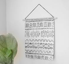 off white mud cloth tapestry mudcloth wall hanging woven fiber art mid century on mud cloth wall art with amazon off white mud cloth tapestry mudcloth wall hanging