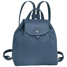 longchamp le pliage cuir donna le pliage cuir backpack xs zaini pilot blue