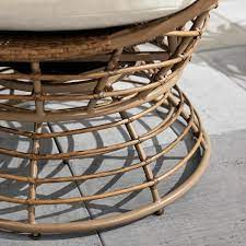 stylewell brown wicker outdoor swivel