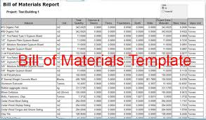 Download Bill Of Material Template Sheet For A Construction Project ...
