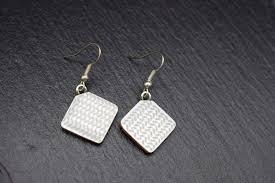 Designer Earrings Rings Ceramic Designer Jewellery For Women Ear Rings In White Grey
