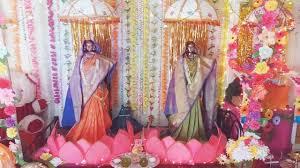 gauri ganpati decoration home youtube