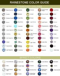 Swarovski Ab Color Chart Swarovski Rhinestone Color Chart