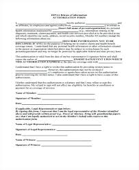 Authorization To Release Information Template Medical Records ...