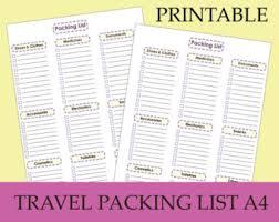 Travel checklist   Etsy
