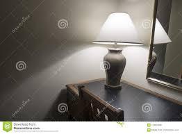 Lighted Desk Classic Lamp On Desk White Bulb Lighted Stock Photo Image
