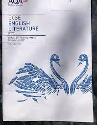 aqa gcse english literature poetry