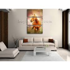sweet looking large vertical wall art minimalist painting print horse on canvas living room animal extra