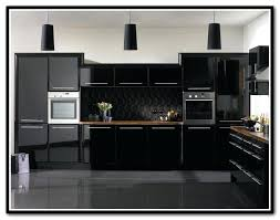 kitchen cabinet doors high gloss black best way to clean