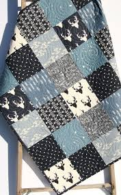403 best Sunnyside quilts images on Pinterest | Quilt kits, Baby ... & Baby Quilt Boy Deer Southwest Stag Woodland Birch Forest Arrow Navy Blue  Silver Modern Crib Bedding Toddler Bed Quilt Rustic Nursery Decor Adamdwight.com