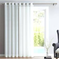 porter patio door solid sheer grommet single curtain panel reviews curtains sliding glass