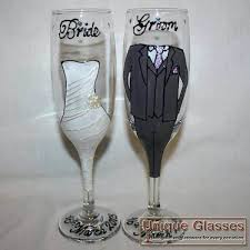 Wine Glass Decorating Designs Wedding Wine Glass Decorating Ideas Hand Painted Wine Glass Wedding 48