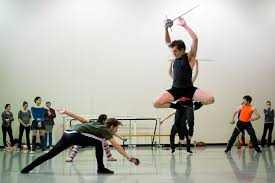 Alex McCleery and Daniel Wagner rehearsing for Peter Pan ...