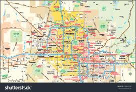 phoenix arizona area map stock vector   shutterstock