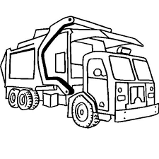 Small Picture Garbage Truck in Semi Truck Coloring Page NetArt