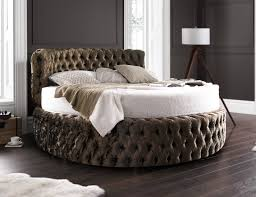 glamour chesterfield 7ft round bed with headboard 210cm in various colours and fabrics