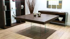 aria espresso dark wood and glass square dining table small black round kitchen only designs in