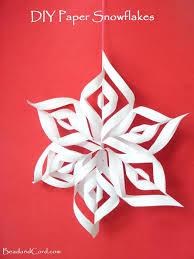 paper snowflakes 3d diy 3d paper snowflakes bead cord