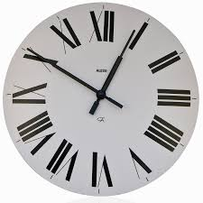 alessi firenze white wall clock with roman numerals
