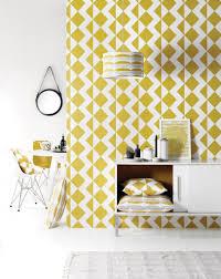 Behang Zigzag Mustard Behang Zigzag Behang Keuken Behang En