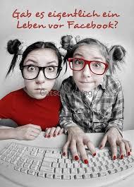 Lustige Sprüche Postkarte Leben Vor Facebook Grusskartenshopde