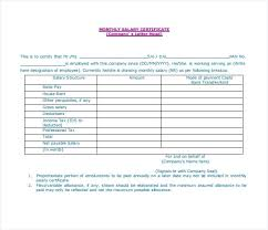 Salary Certificate Template As Slip Format Word Doc New 6 Letter ...