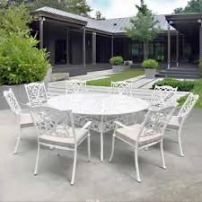 6 seaters round cast aluminium dining set