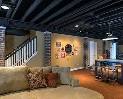 Open Ceiling Basement Lighting Down Lights For Kitchen Open Ceiling