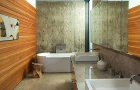bathroom concrete walls