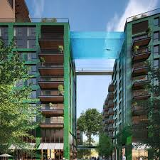 glass bottomed swimming pool to be suspended 10 ys above south london