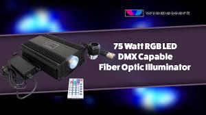 Fiber Optic Light Illuminator 75 Watt Rgb Led Dmx Capable Fiber Optic Illuminator
