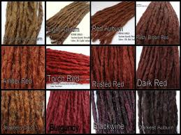 Dreads Growth Chart Color Chart Synthetic Dreadlock Hair Extensions By