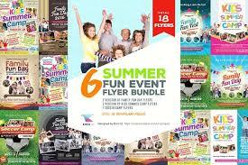 Summer Fun Event Flyer Bundle Templates On Kindergarten Brochure ...