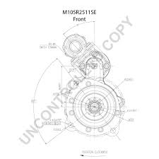 M105r2511se front dim drawing