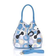 Coach Drawstring In Monogram Medium Blue Medium CEI