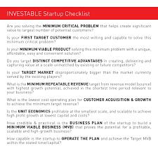Business Startup Checklist INVESTABLE Startup 18