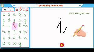 cunghoc.vn] - Tập viết bảng chữ cái Tiếng Việt - YouTube