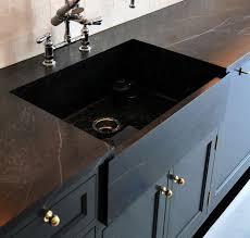 made black soapstone countertop sink remodelista soapstone