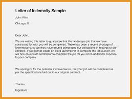 indemnity letter format 12