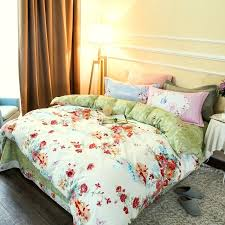country journal duvet cover set fl country life houses bedding sets soft thick sanding cotton fabric
