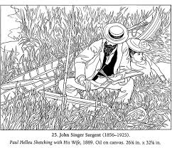 Small Picture Color Your Own Famous American Paintings coloring page John Singer