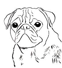 Small Picture Free pug coloring page to download and print
