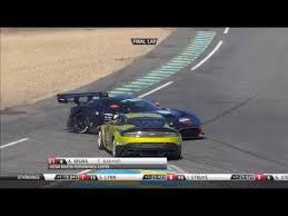 Aston Martin Racing Le Mans Festival 2018 Circuit De La Sarthe Final Lap Tyre Blow Spins Youtube