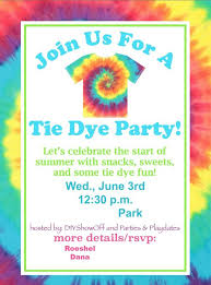 Diy Show Off Tie Dye Party Birthday Party Invitations