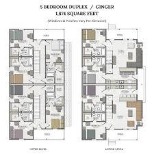 4 Bedroom Duplex Floor Plans