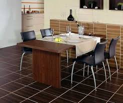 dining room tile flooring. modern dining room decorating with tiled floor and wall tile flooring e