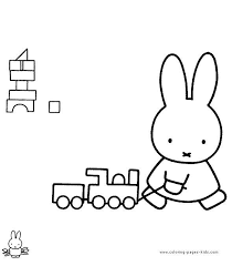 Miffy Color Page Cartoon Characters Coloring Pages Color P