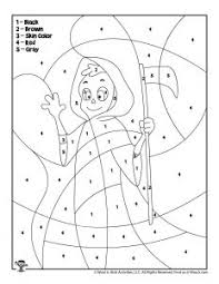 Christmas coloring pages, christmas color by number, christmas tracing, christmas crafts. Halloween Color By Number Pages Woo Jr Kids Activities