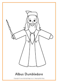 Small Picture Albus Dumbledore colouring page Harry PotterAlways