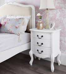 white shabby chic bedroom furniture. Juliette Chabby Chic Bedside Table White Shabby Bedroom Furniture Direct